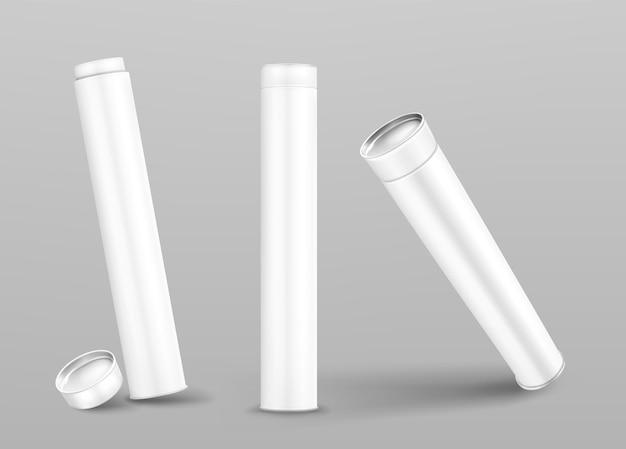 Cylindres En Carton Fermés Et Ouverts Vecteur gratuit