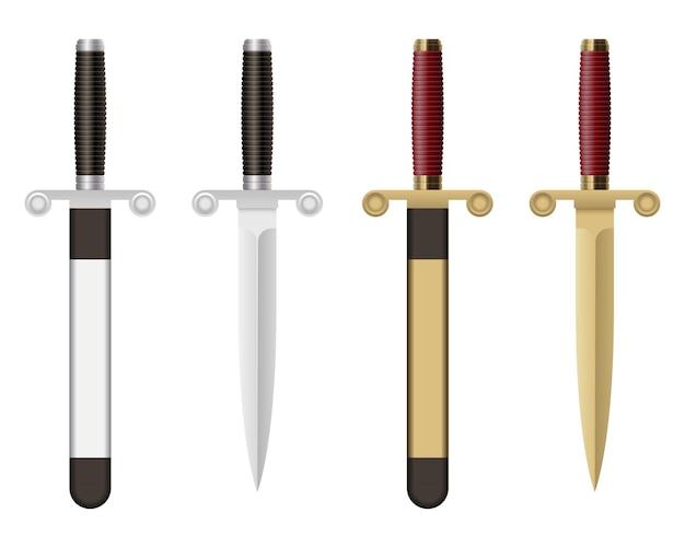 Dague De Combat Isolée Vecteur Premium