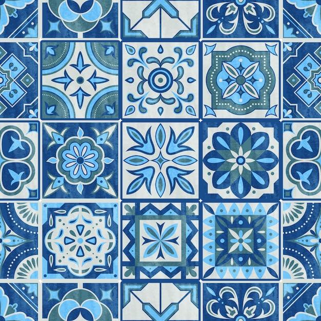 Dalle de patchwork sans couture Vecteur Premium
