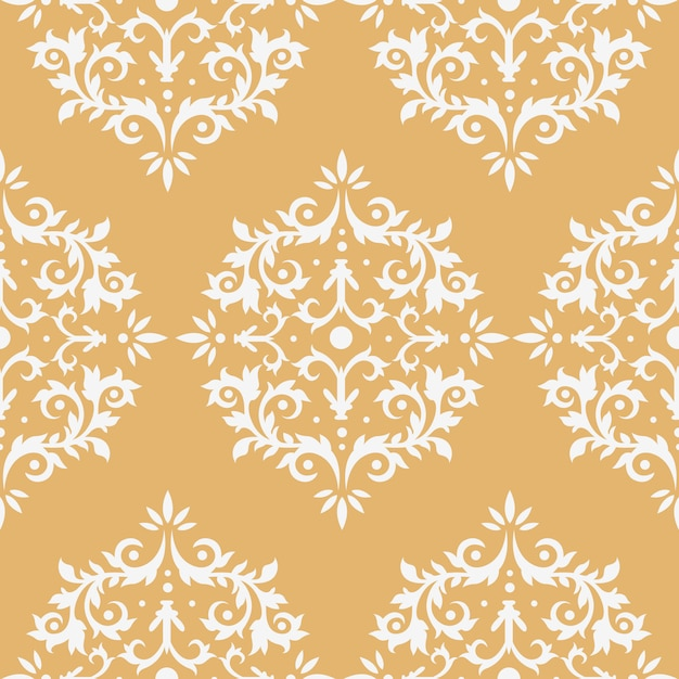 Damask seamless pattern Vecteur gratuit