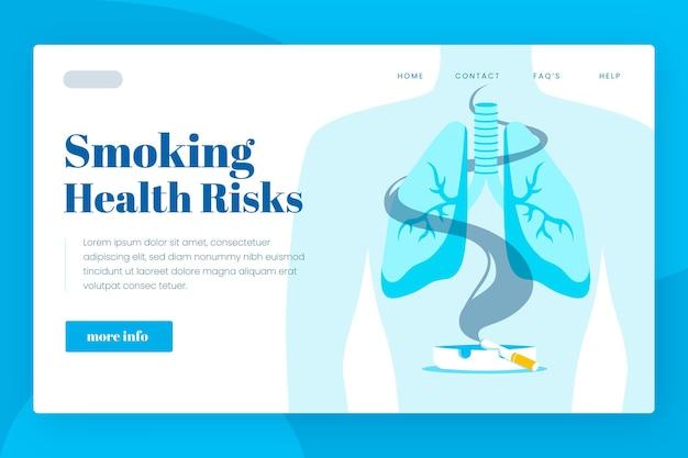 Danger De Fumer - Page De Destination Vecteur gratuit