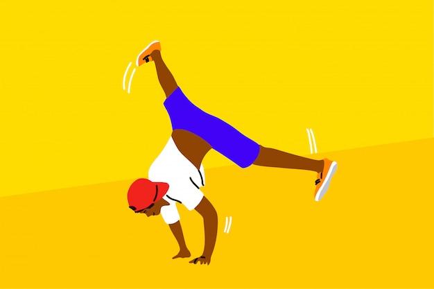 Danse, Hip Hop, Sport, Compétition, Performance, Concept De Loisirs Vecteur Premium