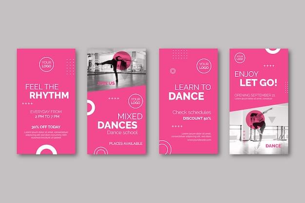 Danser Des Histoires Instagram Vecteur gratuit