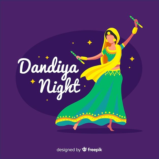 Danseuse dandiya Vecteur gratuit