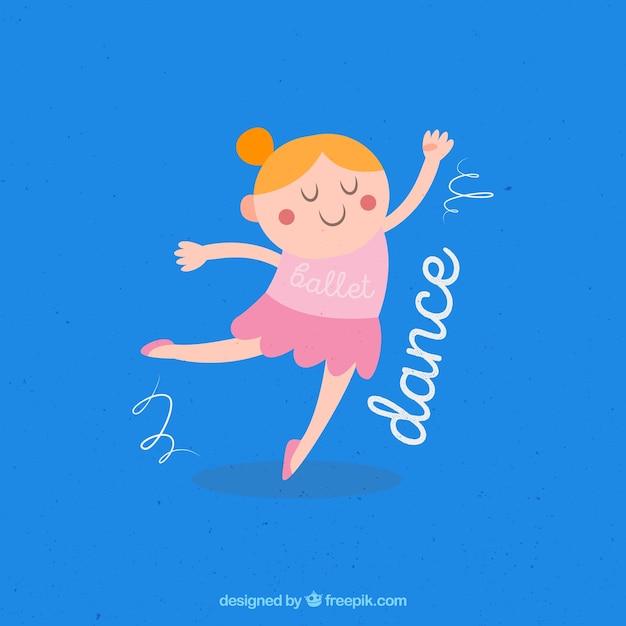 Danseuse gracieuse t l charger des vecteurs gratuitement - Dessin anime danseuse ...