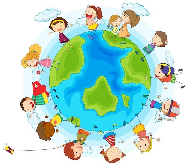 Favori De nombreux enfants du monde entier | Télécharger des Vecteurs  EY92