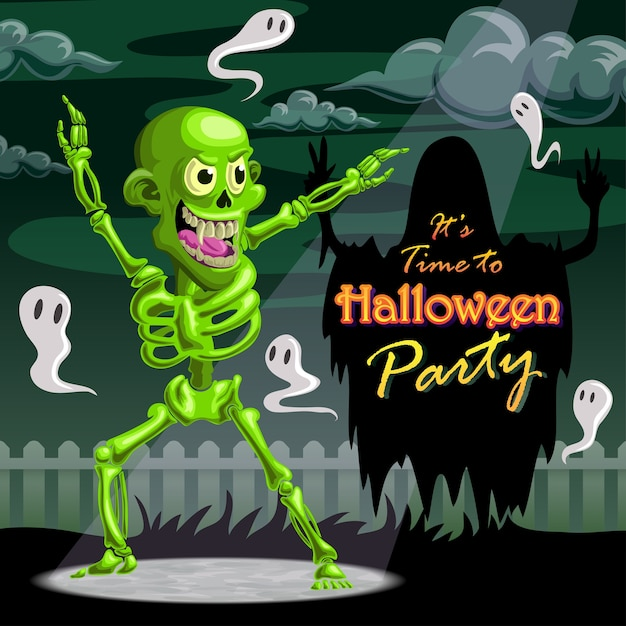 Décor d'halloween Vecteur Premium