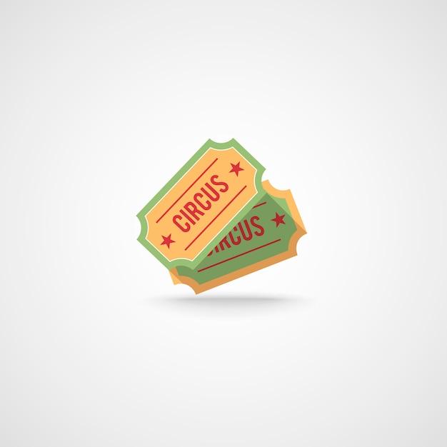 Décoratif deux billets de cirque vintage composition emblème concept fond impression ou chapiteau entertaiment badge design illustration vectorielle Vecteur gratuit