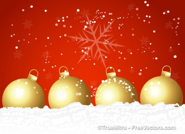 Vecteur Gratuite | Décoration Des Boules De Noël Sur Fond Rouge