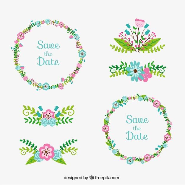 Décoration de mariage floral  Télécharger des Vecteurs ...