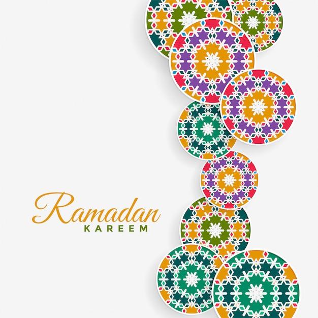 Décoration de modèle islamique fond kareem ramadan Vecteur gratuit