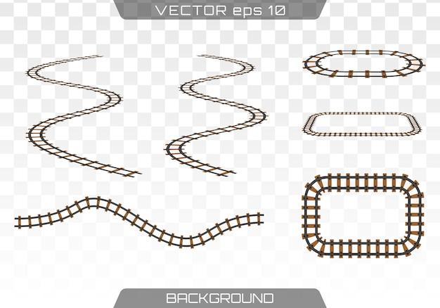 Décoration de pistes droites Vecteur Premium