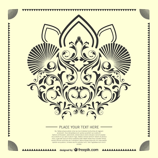 Decorative Modele De Carte Arabesque