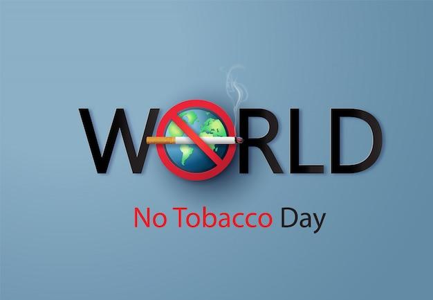 Défense de fumer et journée mondiale sans tabac, Vecteur Premium