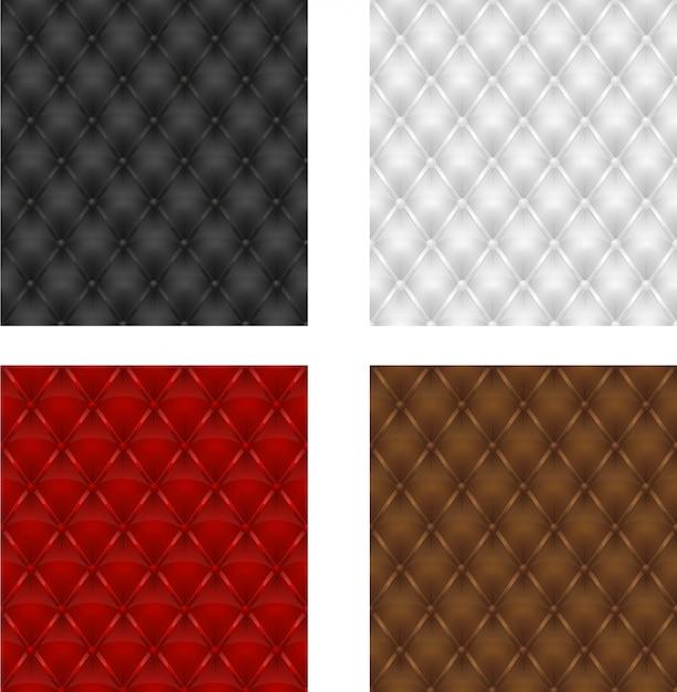 Définir L'arrière-plan Transparent De Sellerie En Cuir Multicolore Vecteur Premium
