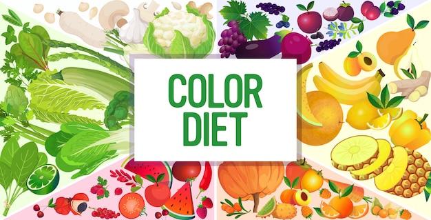Définir Des Baies Juteuses Fraîches Légumes Composition De Fines Herbes Fruits Couleur Saine Alimentation Naturelle Concept De Régime Horizontal Vecteur Premium