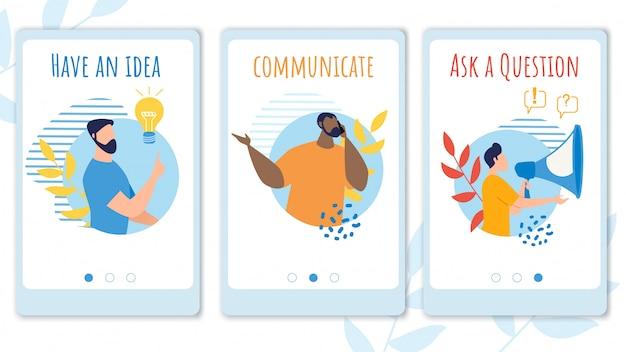 Définir La Bannière D'information Dans L'idée. Vecteur Premium