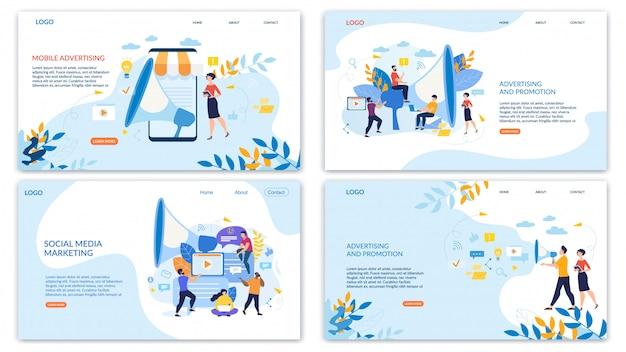 Définir Bright Flyer Lettrage Publicité Mobile. Vecteur Premium