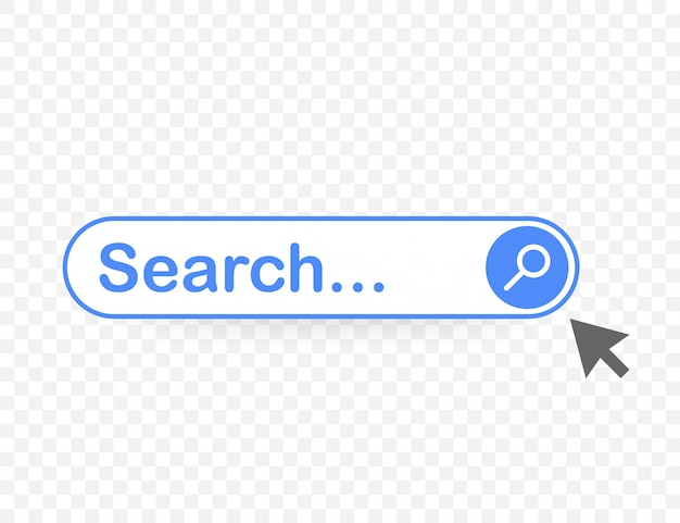 Définir l'élément de barre de recherche, ensemble de modèles d'interface utilisateur des zones de recherche Vecteur Premium