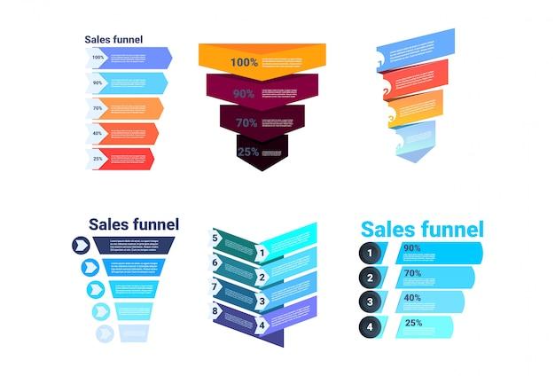 Définir L'entonnoir De Vente De Divercity Avec étapes étapes Infographie Commerciale. Concept De Diagramme D'achat Vecteur Premium