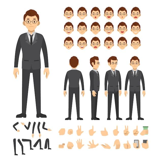 Définir les gens de caractère vector illustration Vecteur Premium