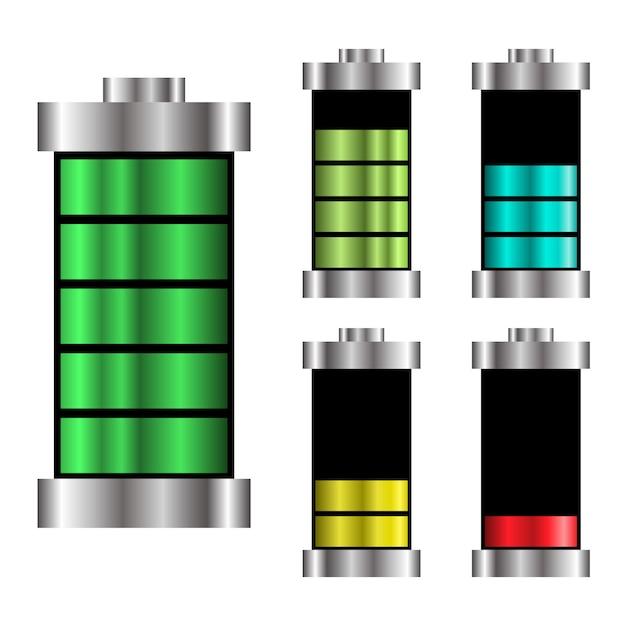 Définir Le Logo De La Batterie Illustration De La Charge énergétique Vecteur Premium