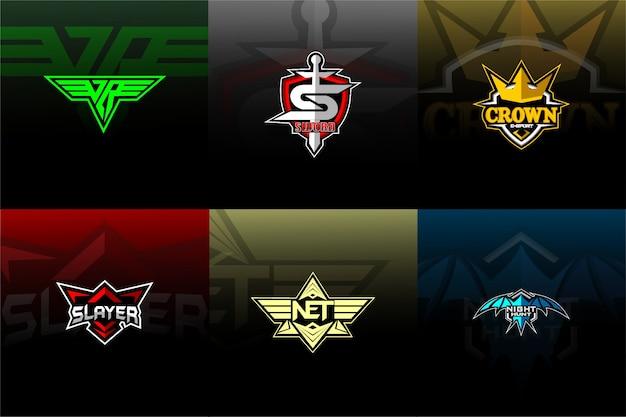 Définir le logo esport / sport avec fond Vecteur Premium