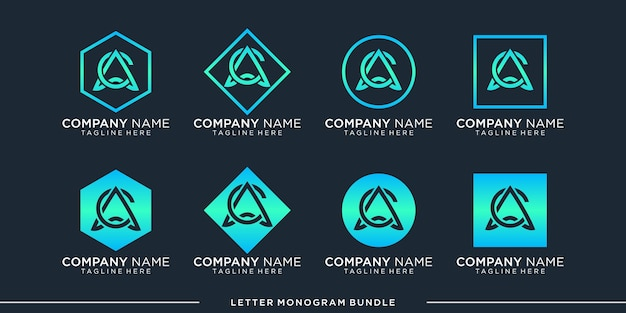 Définir Le Modèle De Conception De Logo Monogramme C Vecteur Premium