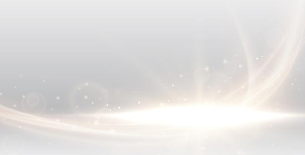 Défocalisé abstrait floue avec bokeh or Vecteur Premium