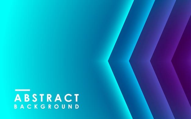 Dégradé Bleu Abstrait Géométrique Vecteur Premium