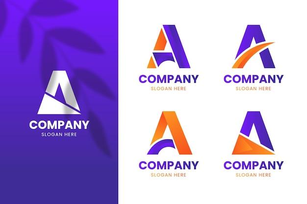 Dégradé Une Collection De Modèles De Logo Vecteur gratuit