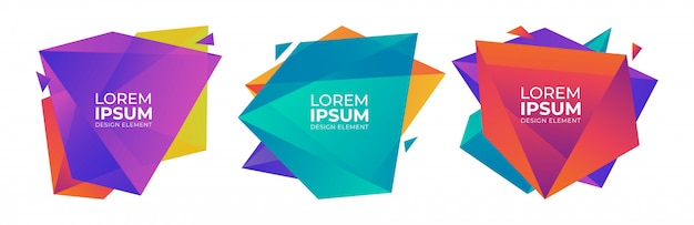 Dégradé coloré abstrait géométrique Vecteur Premium