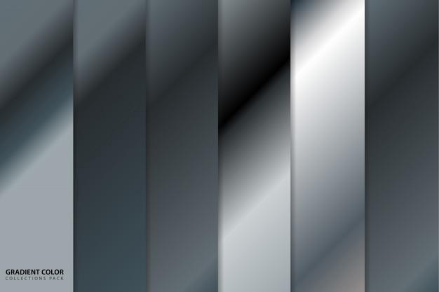 Dégradé de couleurs argenté Vecteur Premium