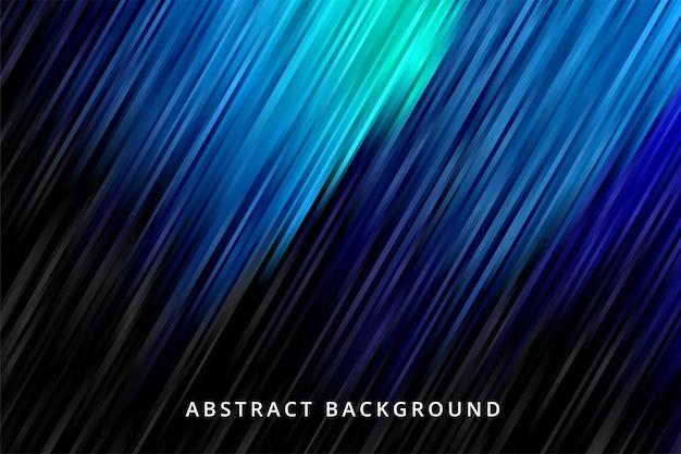 Dégradé De Fond Abstrait. Papier Peint à Rayures Bleues Noires Vecteur Premium