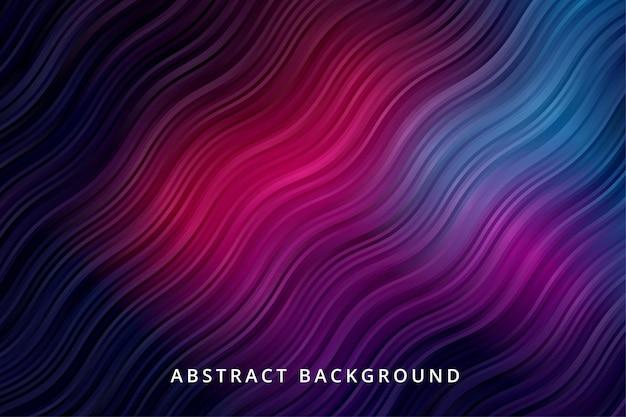 Dégradé De Fond Abstrait. Papier Peint à Rayures Sombres Et Vibrantes Vecteur Premium
