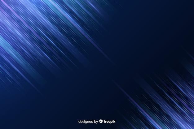 Dégradé de lignes bleues de fond de particules Vecteur gratuit