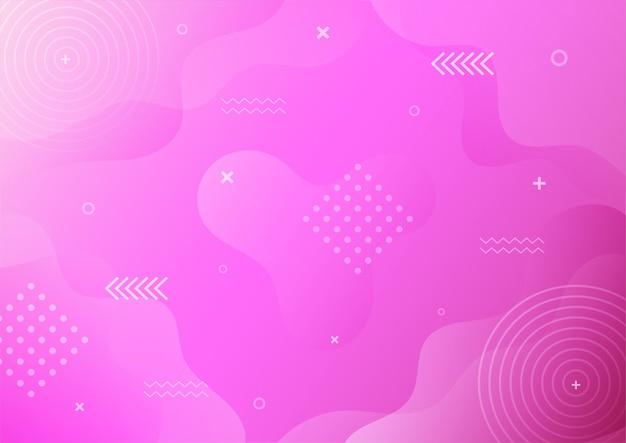 Dégradé Moderne Violet Style Memphis Abstrait Avec Fond Géométrique. Vecteur Premium