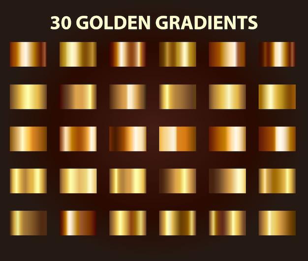 Dégradé d'or Vecteur Premium