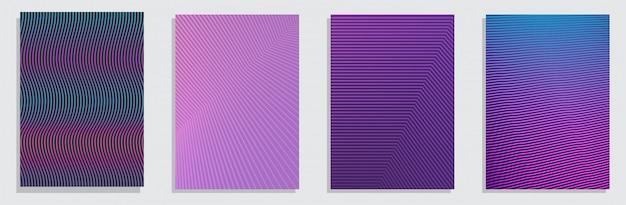 Dégradés de demi-teintes colorés. ensemble futur fond vertical géométrique. Vecteur Premium