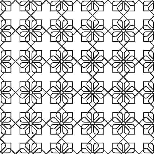 Délicat motif sans couture de style oriental - variation 2 Vecteur Premium