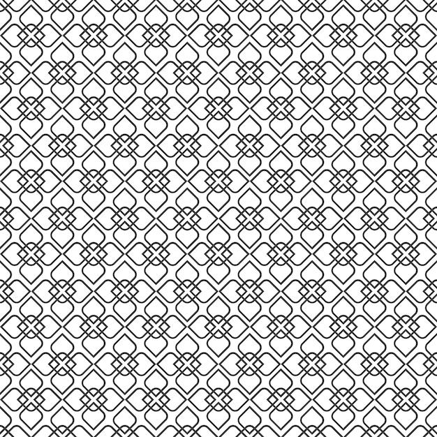 Délicat motif sans couture de style oriental - variation 3 Vecteur Premium