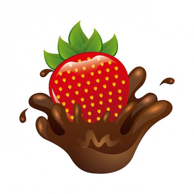 Délicieux chocolat Vecteur Premium