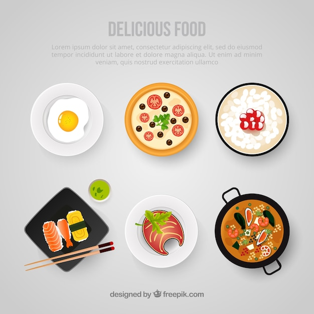Délicieux modèle alimentaire Vecteur Premium