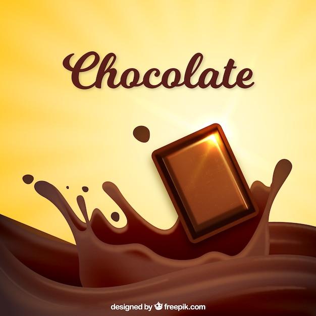 Délicieux morceau de fond de chocolat Vecteur gratuit