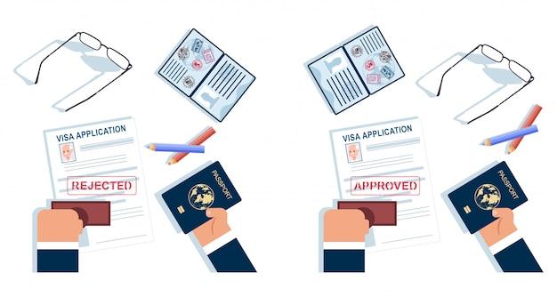 Demande De Visa . Vecteur Premium