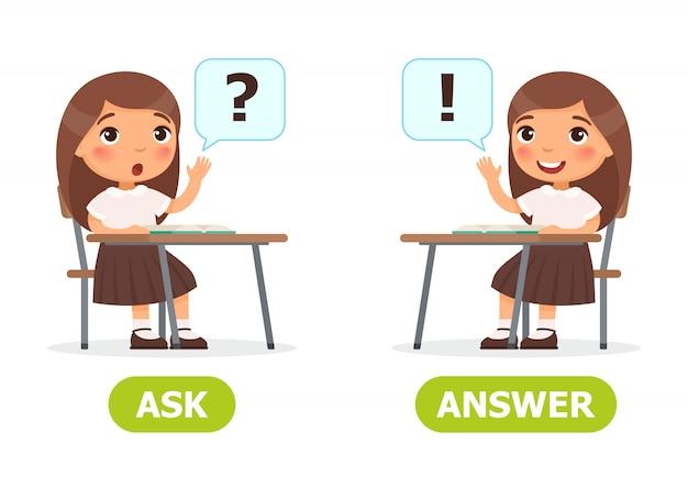 Demandez et répondez illustration. Vecteur Premium