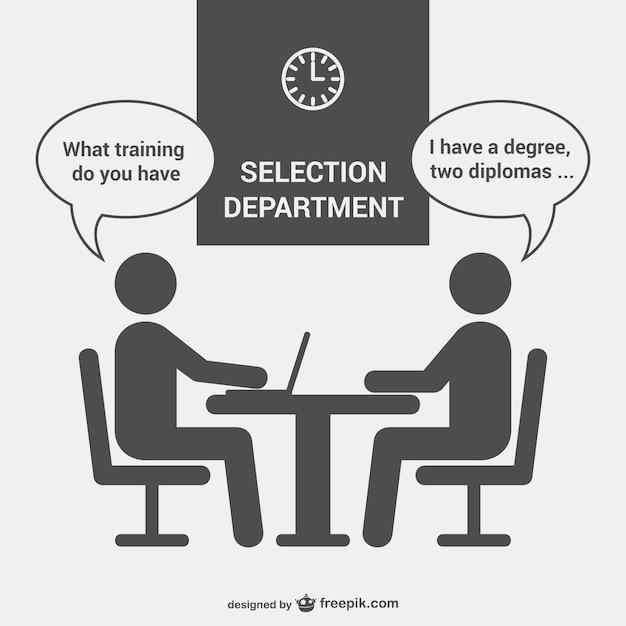 Département entrevue de sélection Vecteur gratuit