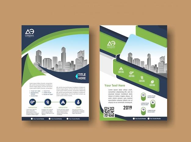 Dépliant de la brochure de présentation pour l'événement et le rapport Vecteur Premium