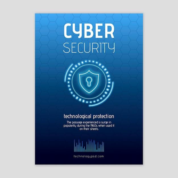 Dépliant Sur La Cybersécurité V Vecteur gratuit
