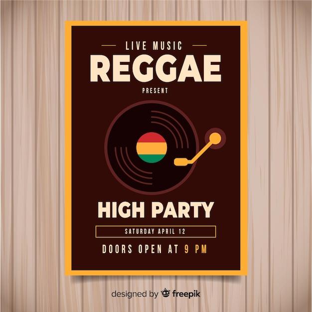 Dépliant du parti reggae Vecteur gratuit